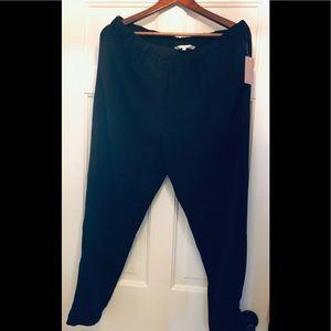 Rachel Roy elastic waist haram style black pants